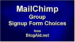 MailChimp Group Signup Form Choices