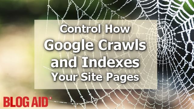 Control How Google Crawls and Indexes Your Site Pages