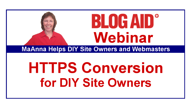 Free Webinar HTTPS Conversion for DIY Site Owners