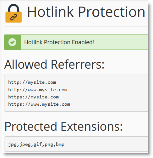 hotlink-cpanel-protection-enabled
