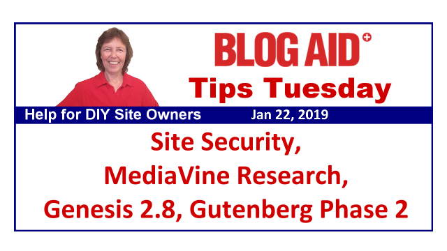 Tips Tuesday – Site Security, MediaVine Research, Genesis 2.8, Gutenberg Phase 2
