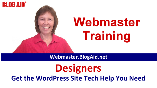 BlogAid Webmaster Training for Designers