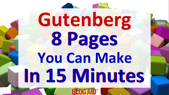 Gutenberg - 8 Pages You Can Make in 15 Minutes