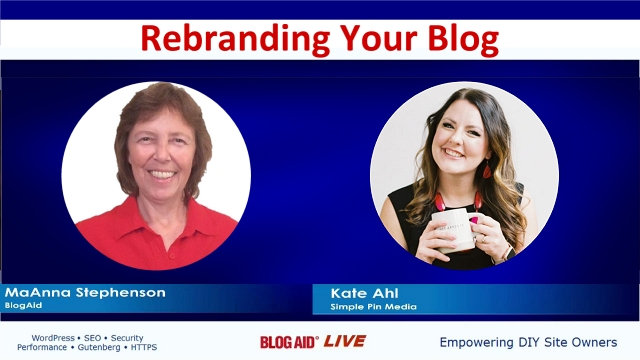 Rebranding Your Blog - Interview with Kate Ahl